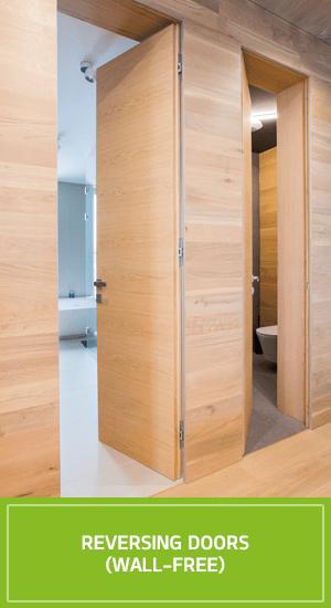 Reversing doors wall-free