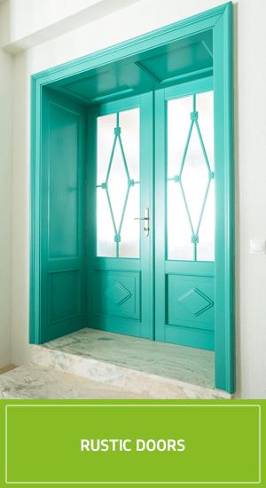 Rustic wooden doors